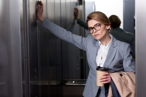 woman giving an elevator speech