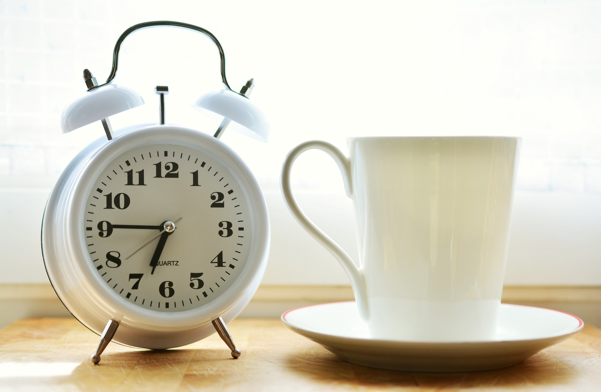 clock and coffee for making the best of your time